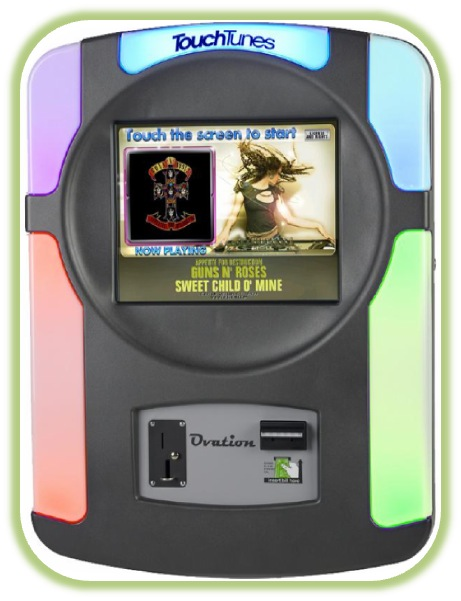 Wallmount Jukebox from Touch Tunes